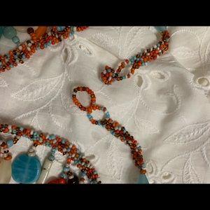 Handmade Multi bead necklace